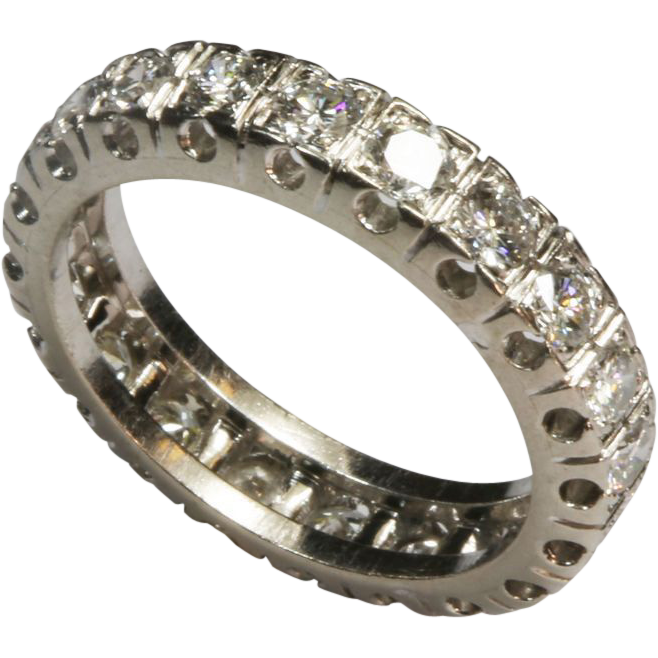 Magnificent French Diamond Platinum Eternity Ring