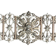 Antique French Silver Gothic Revival Bracelet