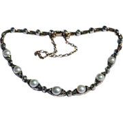 Antique French Pearl Diamond Bracelet