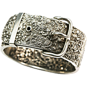 Antique Victorian Continental Silver Buckle Bracelet