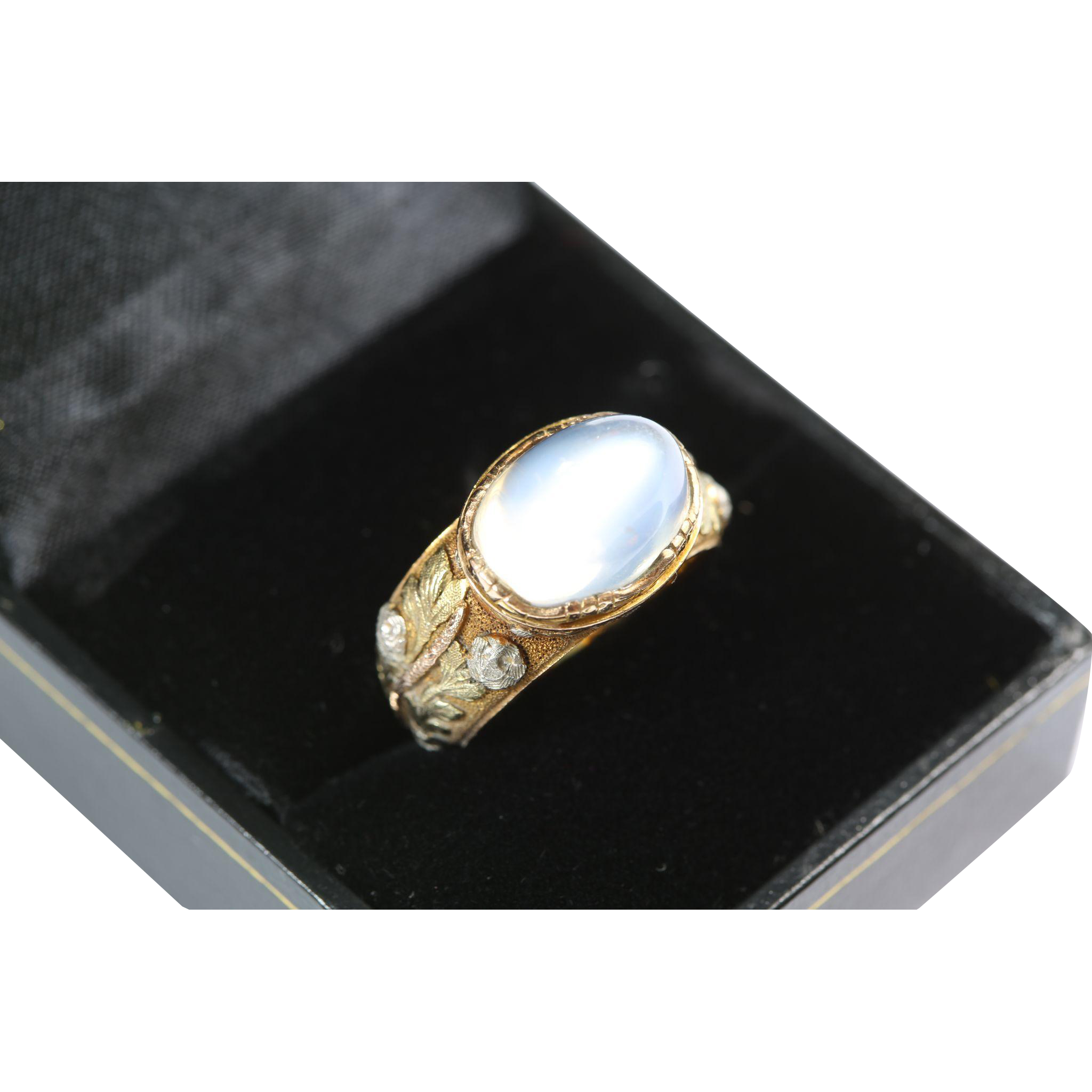 Glorious Antique Gold Moonstone Ring