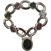 Lovely Antique Scottish Agate Bracelet Dated 1857
