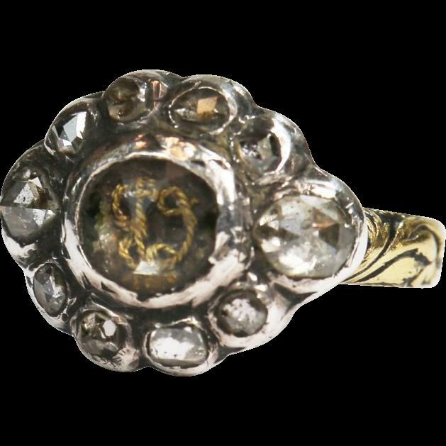 Rare Stuart Crystal Diamond Ring 17th Century From