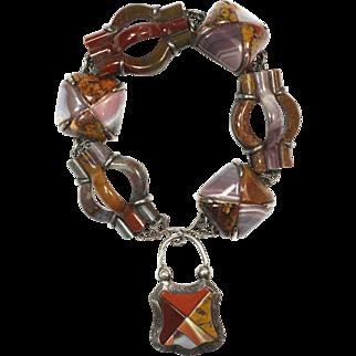 Superlative Antique Scottish Agate Bracelet