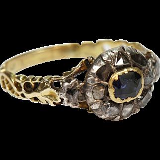 Antique Georgian Sapphire Diamond Ring