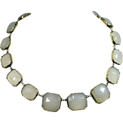 Beautiful Antique Chalcedony Gold Necklace