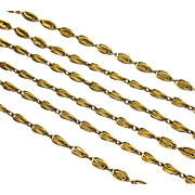 Captivating Antique French Gold Love-Knot Chain