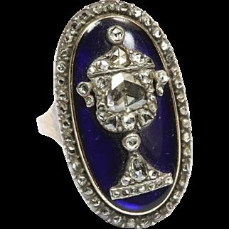 Opulent Georgian Diamond Urn Ring