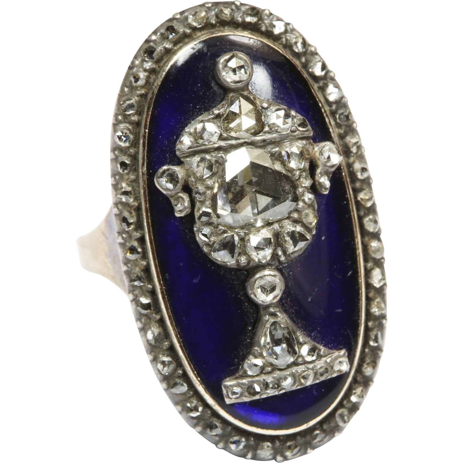 Opulent Georgian Diamond Urn Ring