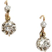Fine Antique French Diamond Earrings