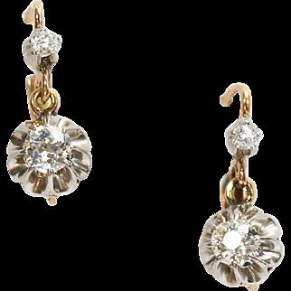 Fine Antique French Diamond Earrings