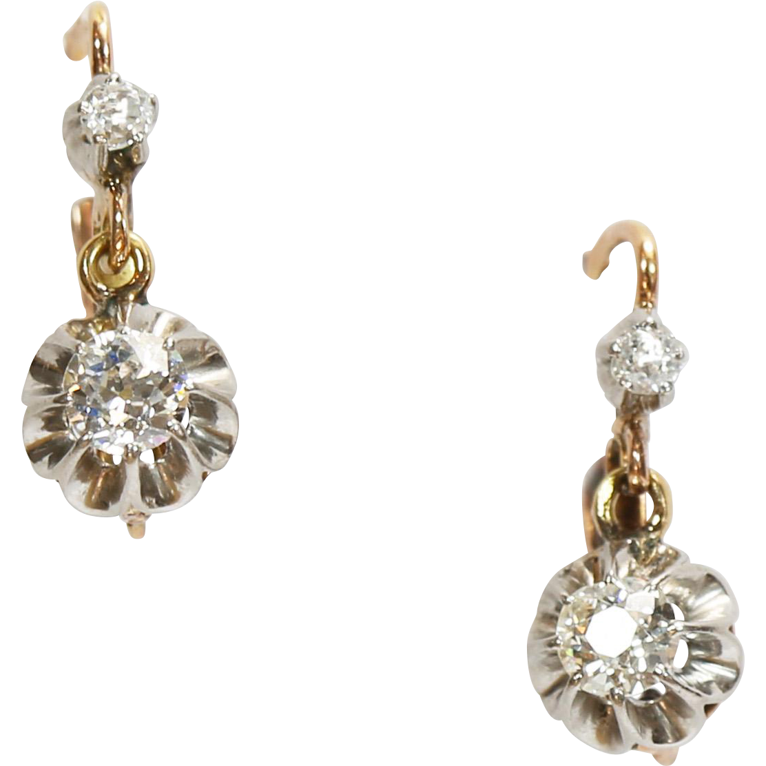 Fine Antique French Diamond Earrings from ...