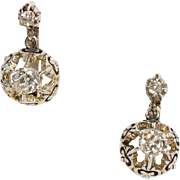 Elegant Antique French Diamond Earrings