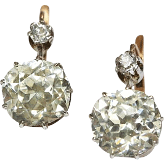 Remarkable French Large Paste Earrings