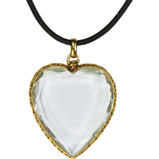 Antique French Gold Large Heart Locket