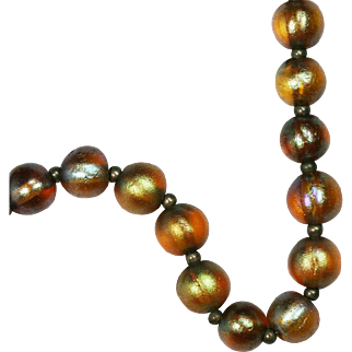 Rare Art Deco WMF Glass Bead Necklace