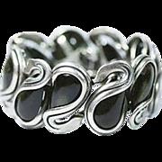 Rare Antonio Pineda Mexican Silver Swan Bracelet