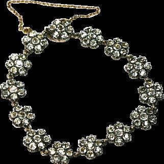 Antique Georgian Gold Paste Bracelet Circa 1800