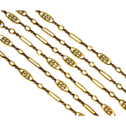 Luxurious Antique French Gold Long Chain