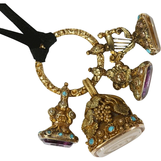Antique Georgian Gold Gemstone Fob Seals
