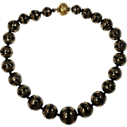 Museum Quality Antique Pique Necklace