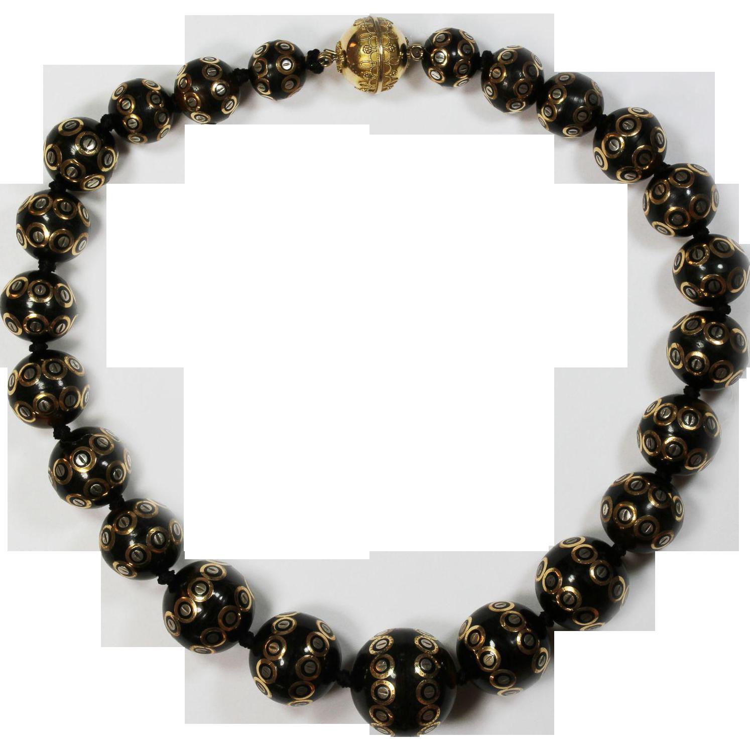 Museum Quality Antique Pique Necklace