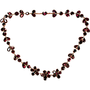 Enchanting Antique Georgian Garnet Necklace Circa 1820