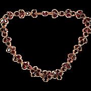 Enchanting Antique Georgian Garnet Necklace Circa 1820