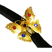Antique Gold Butterfly Slide