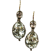 Extraordinary Rare Antique Georgian Paste Earrings