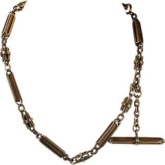 Antique Gold Watch Chain Necklace Circa 1890