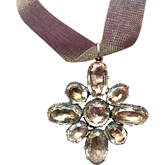 Antique Gold Topaz Pendant Circa 1820