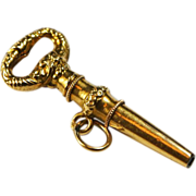 Antique French 18 Karat Gold Watch Key Charm
