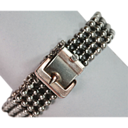 Sleek Antique Silver Antique Buckle Bracelet