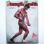 April 1942 Muscle Magazine Strength and Health Frank Giardine Cover