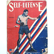 Rare 1928 Boxing Magazine : Self-Defense Vol. 1 No. 12