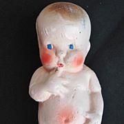 Vintage Carnival Chalkware Kewpie Baby Doll