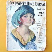 Rare People's Home Journal Magazine April 1921