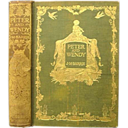 Peter and Wendy 1911 1st US Edition J. M. Barrie