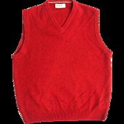 Vintage Red Wool Sweater Vest Blarney Woollen Mills Ireland - Red Tag Sale Item