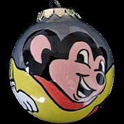 Ceramic Mighty Mouse Christmas Tree Ornament by Artist Miriam Misenko