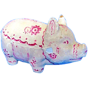 1930s Composition Piggy Bank Pig Made in U.S.A.