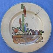 Small Mexican Pottery Plate from Tlaquepaque circa 1940s