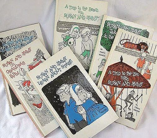Susan and Jimmy Children's Books All Six by Paula Becker 1965