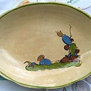 Vintage Oval Tlaquepaque Mexican Pottery Dish c. 1930s