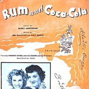 1940s Rum and Coca-Cola Sheet Music Andrews Sisters