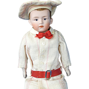 Flocked Hair Gebruder Heubach Character Boy Doll