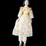 1850s German Paper Mache Girl, so-called Milliner's Model