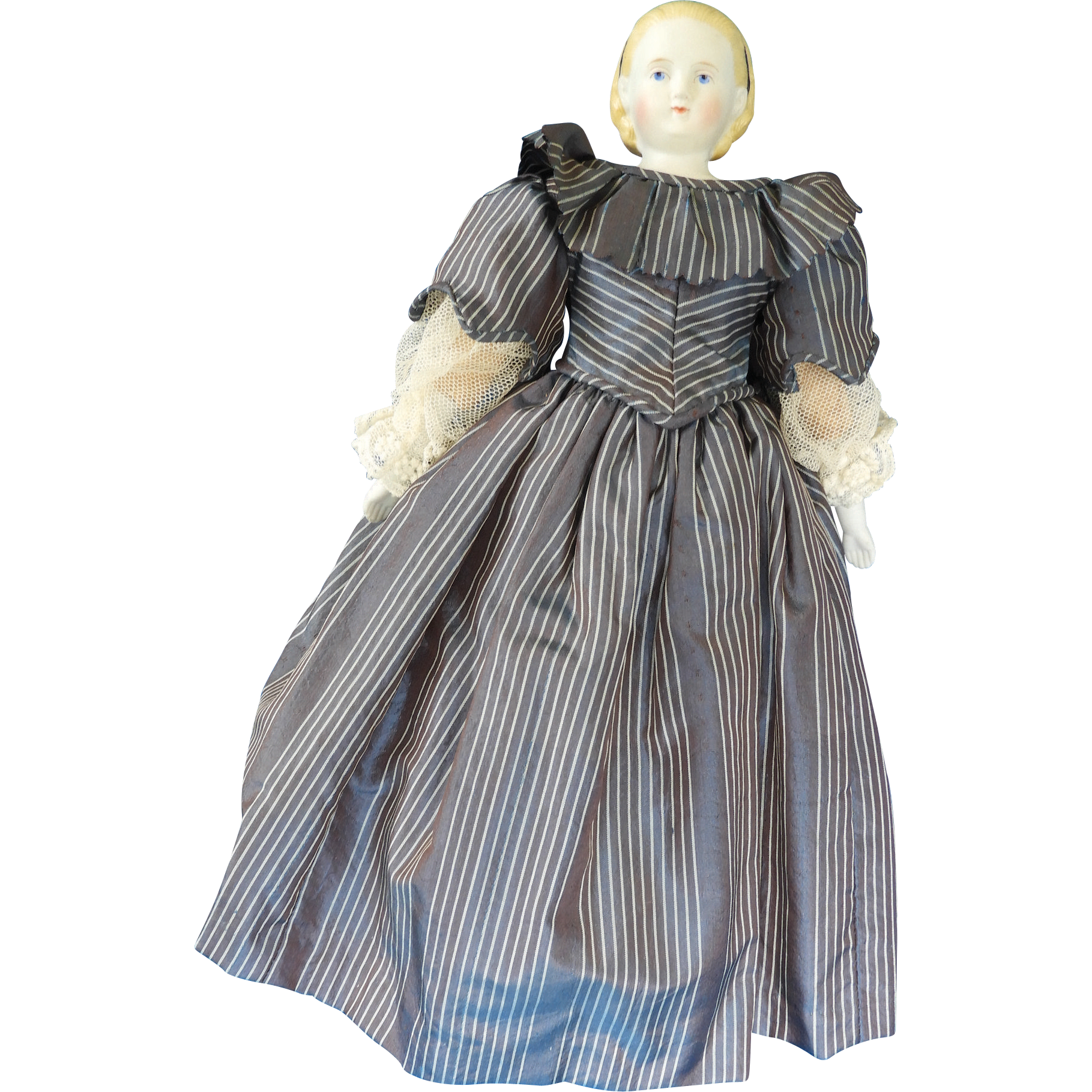 Cabinet-size Untinted Bisque (Parian) Alice-style Lady doll