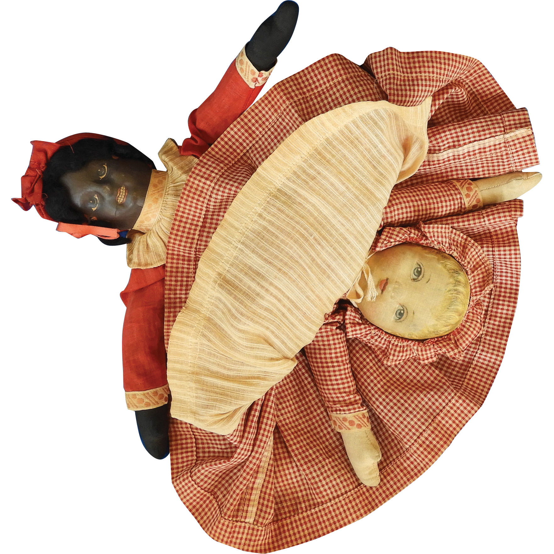 Cloth, Bruckner Topsy -Turvy Doll